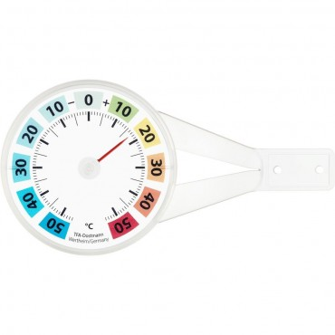 Round Coloured Window Thermometer 8cm