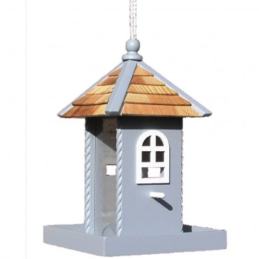 Blue Nestling Bird Feeder