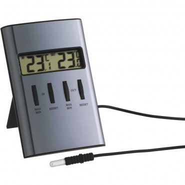 Digital Indoor/Outadoor Thermometer With Cabled Probe 9.8cm