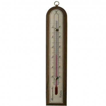 Indoor Thermometer Oak 21cm
