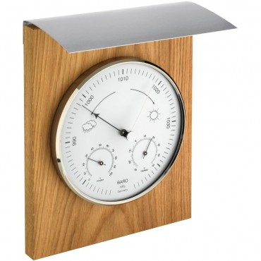 Outdoor Oak Barometer 25.5cm
