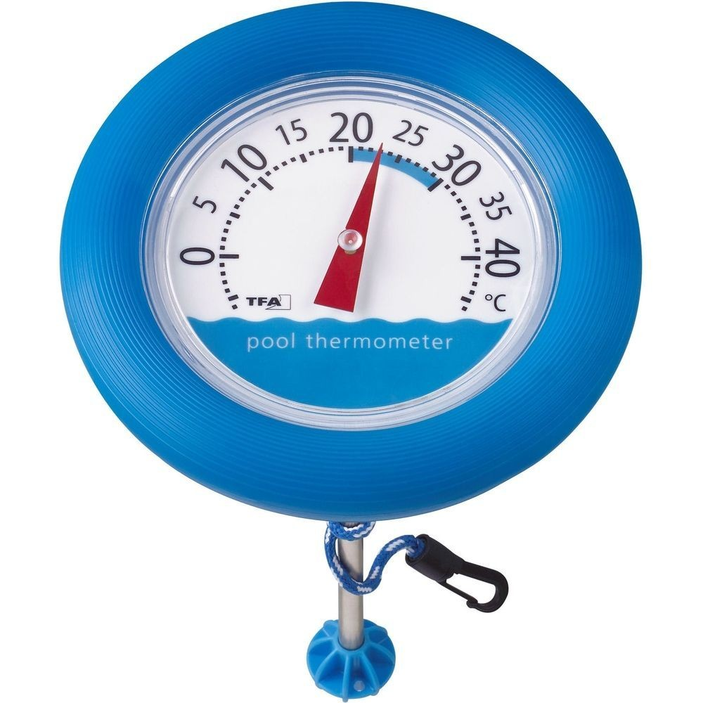 pool thermometer with fastening rope