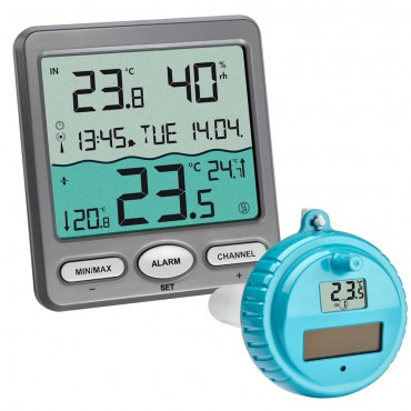 Wireless Pool/Pond/Water Thermometer With Outdoor Sensor