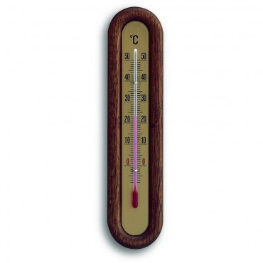 Indoor Thermometer Rustic Oak 22cm