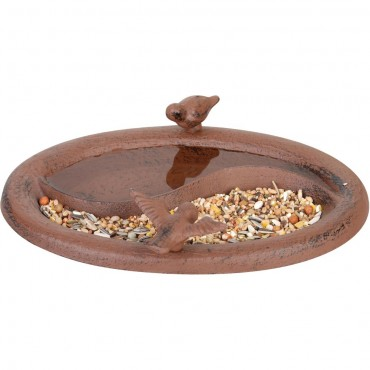 Cast Iron & Bird Bath & Feeder