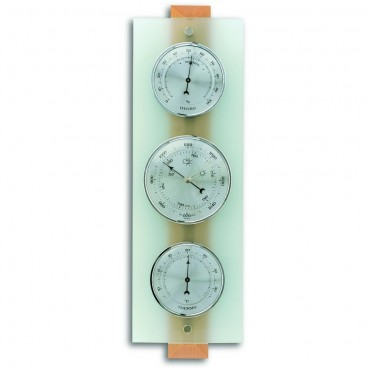 Frosted Glass Barometer 38.5cm