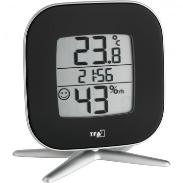 Digital Thermo-Hygrometer With Comfort Level & Clock