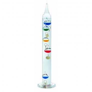 Multi-Coloured Galileo Thermometer 28cm (With Gold Tags)