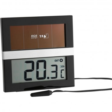 Solar Powered Min Max Thermometer