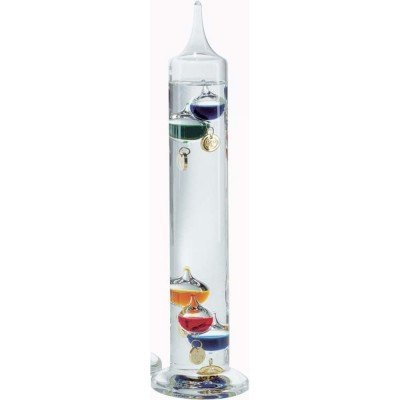 Multi-Coloured Galileo Thermometer 34cm (With Gold Tags)