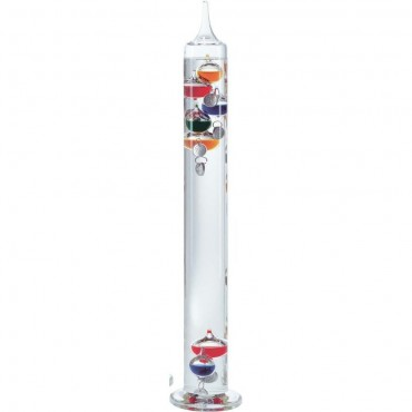 Multi-Coloured Galileo Thermometer 44cm (With Silver Tags)