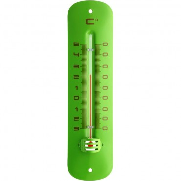 Green Indoor/Outdoor Thermometer 19cm
