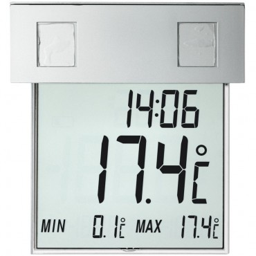 Window Thermometer With Solar Powered Light