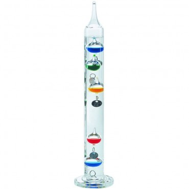 Multi-Coloured Galileo Thermometer 28cm (With Silver Tags)