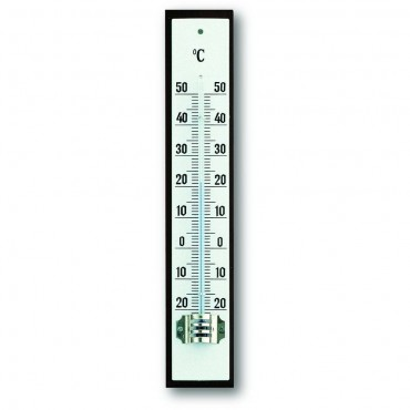 Indoor Mahogany And White Thermometer 16.2cm
