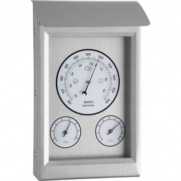 Outdoor Metal Barometer 22.5cm