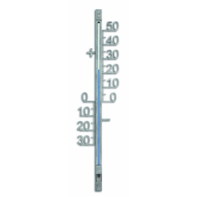 Outdoor Silver Metal Thermometer 42.8cm